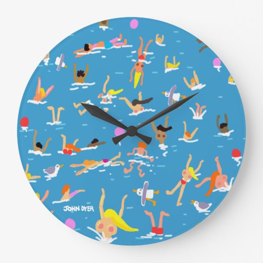 Art Clock: John Dyer Swimmers Large Clock