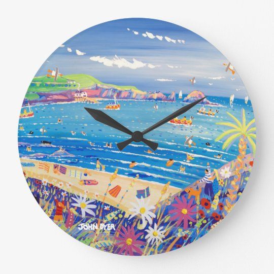Art Clock: Mother Ivey's Bay Cornwall Wallclock