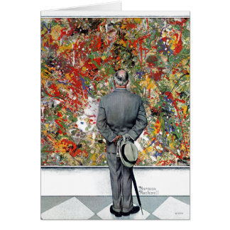 Art Connoisseur by Norman Rockwell Card
