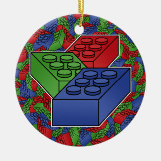 Art - Construction Blocks for Kids Christmas Ornament