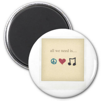 art-cute-inspirational-love-music-Favim.com-189041 6 Cm Round Magnet