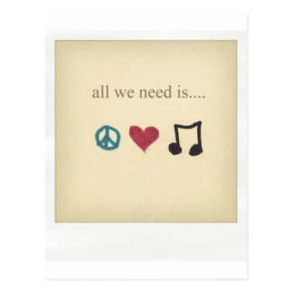 art-cute-inspirational-love-music-Favim.com-189041 Postcard