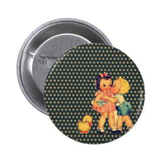 art cute retro children vintage school kids 6 cm round badge