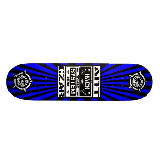 Art Czar - Hack The System (Azure) - Skateboard