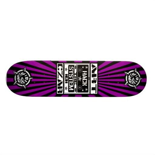 Art Czar - Hack The System Black Light Skateboard