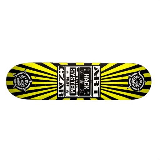 Art Czar - Hack The System (Buzz Bomb) Skateboard