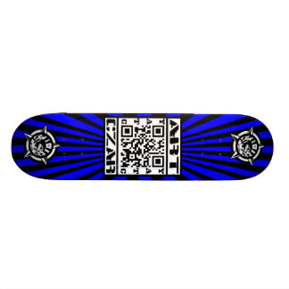 Art Czar - QR Code #1 (Azure) - Skateboard