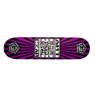 Art Czar - QR Code 1 Black Light - Skateboard