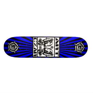 Art Czar - Robots Cry 1 Azure - Skateboard