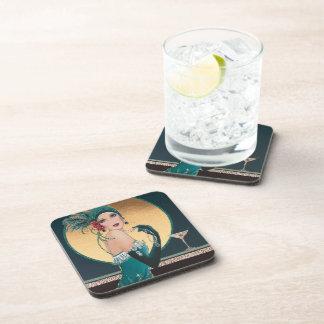 Art Deco1920's Women Having Cocktails Coasters