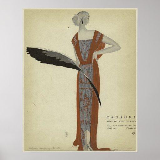 Art Deco 1920s Fashions ~ Rose du Soir