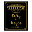 ART Deco 1920's Gatsby style wedding welcome print