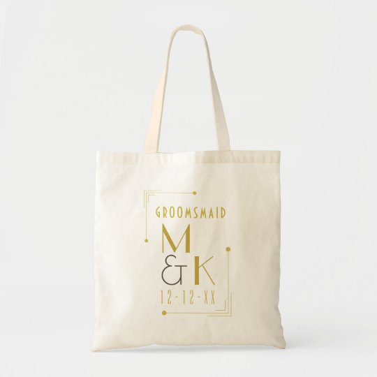 Art Deco 1920s Groomsmaid Wedding Tote Bag