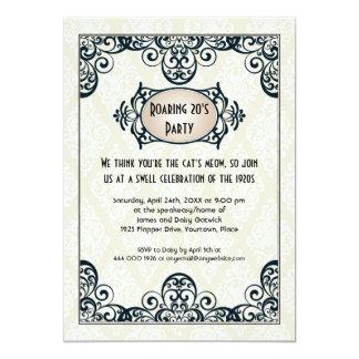Art Deco 1920s Party 13 Cm X 18 Cm Invitation Card
