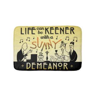 Art Deco 20s Retro Sunny Demeanor Inspirational Bath Mat