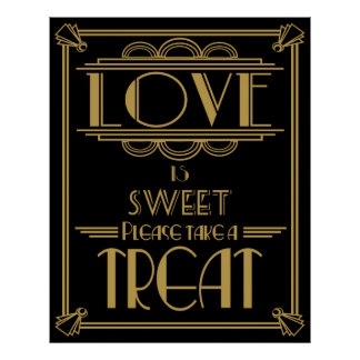 Art Deco 20's style Sweet table print