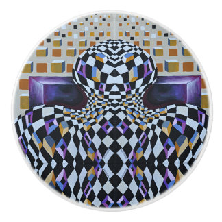 Art Deco - Abstract Diffusion Ceramic Knob