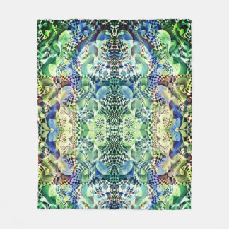 Art Deco - Abstract Distortion Fleece Blanket