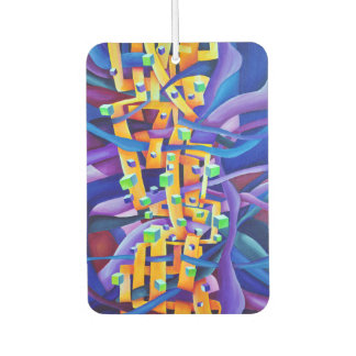 Art Deco Abstract Interlocking Shapes Car Air Freshener