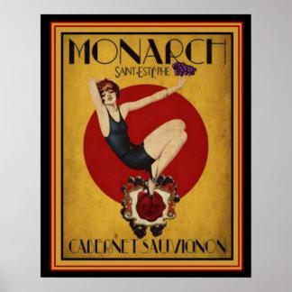 Art Deco Ad for Monarch Cabernet 16 x 20 Poster
