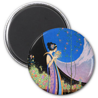 Art Deco Advertising Art  by Fred Parker 6 Cm Round Magnet