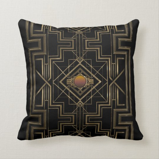 Art Deco Antique Gold Cushion