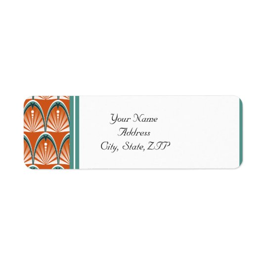Art Deco Arches in Orange and Teal Wedding