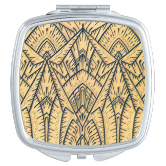 Art Deco Architecture Mirrored Compact Makeup Mirrors
