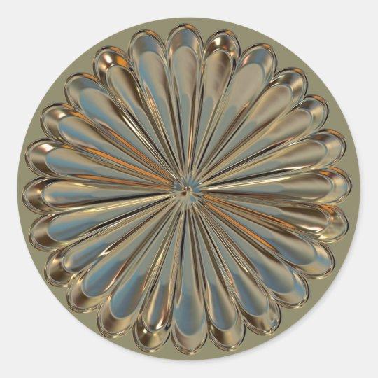 Art deco/ art nouveau flower medallion sticker