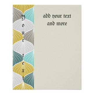 "Art deco,art nouveau,teal,mint,beaige,grey,chic,el 4.5"" x 5.6"" flyer"