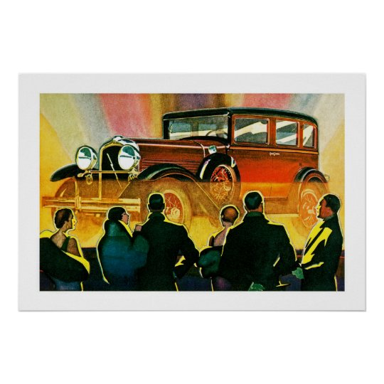 Art Deco Automobile Illustration Poster