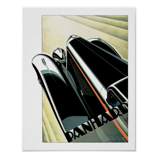Art Deco Automobile Poster