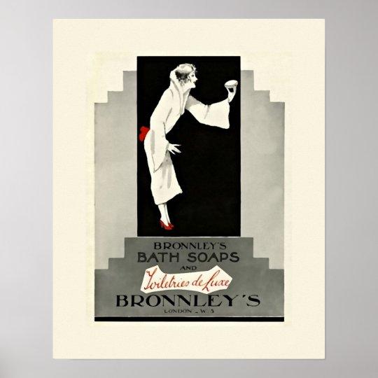 Art Deco Bath Soap Poster