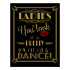 Art Deco Bathroom sign print Ladies