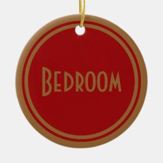 Art Deco Bedroom Door Round Ceramic Decoration