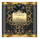 Art Deco Birthday Party Personalised Announcement