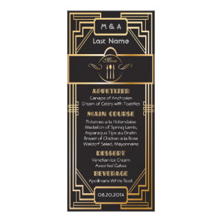 Art Deco Black and Gold Gatsby Wedding Personalized Invite