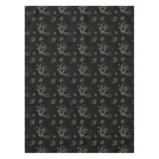 Art deco black and golden seamless pattern tablecloth