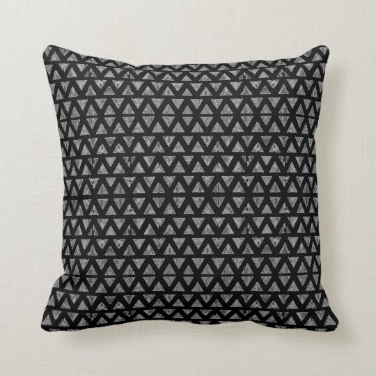 Art Deco Black and Grey Cushion
