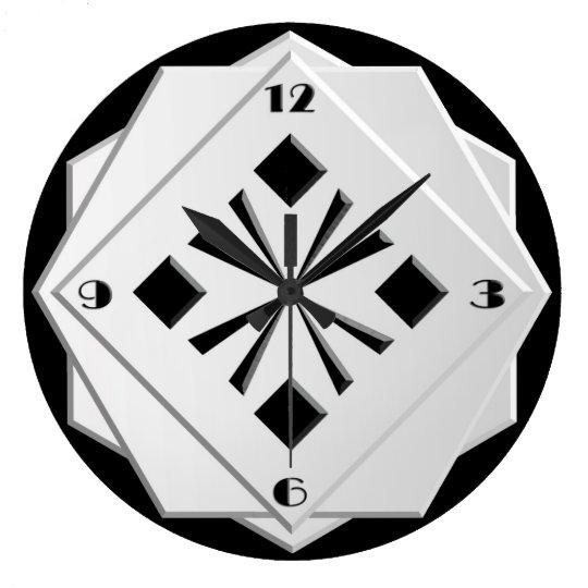 Art Deco black and white geometric pattern Large
