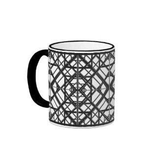 Art Deco Black and White Ringer Coffee Mug