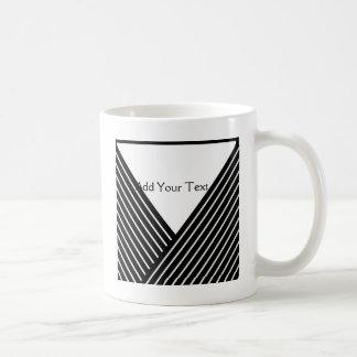 Art Deco Black and White Stripe Coffee Mug