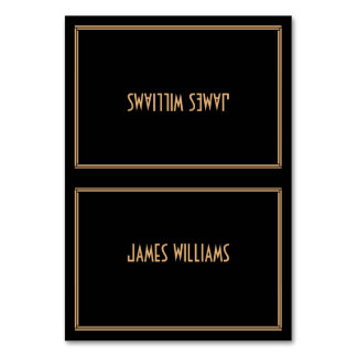 Art Deco Black Great Gatsby Place Setting Cards Table Card