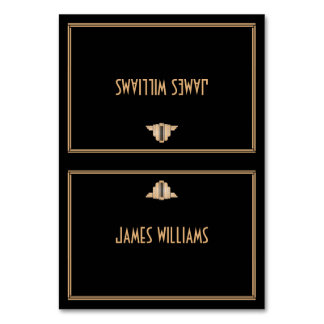 Art Deco Black Great Gatsby Place Setting Cards Table Cards