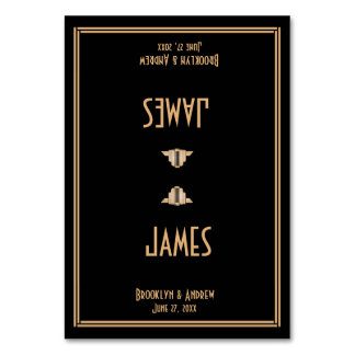 Art Deco Black Great Gatsby Wedding Place Cards Table Card