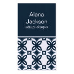 Art Deco Blooms Business Card, Blue Pack Of Standard Business Cards