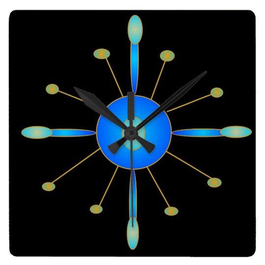 Art Deco Blue/ Aqua/ Gold > Creative Clocks