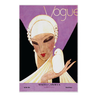 Art Deco ~ Blushing Bride French Vogue Cover Poster