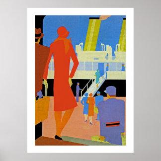 Art Deco Boarding Print