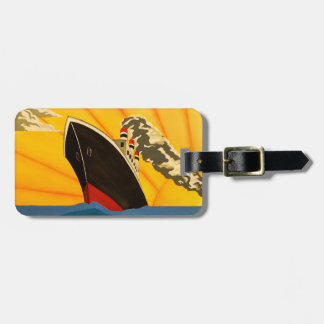 Art Deco Boat Stylish Luggage tag